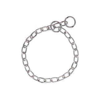 Halskette chrom - große Glieder 50 cm
