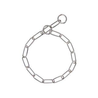 Halskette chrom - große Glieder 65 cm