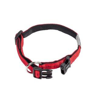 Nylon-Halsband SOFT GRIP Rot-Schwarz L-XL