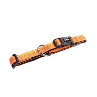 Nylon-Halsband SOFT GRIP Orange-Schwarz XS-S