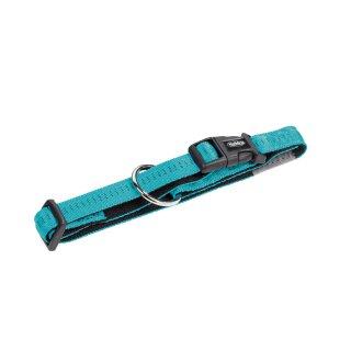 Nylon-Halsband SOFT GRIP Türkis-Schwarz M-L