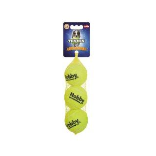 Tennisball  M 6,5 cm, 3er Netz