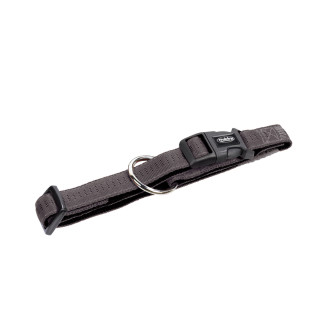 Nylon-Halsband SOFT GRIP Dunkelgrau-Schwarz XS