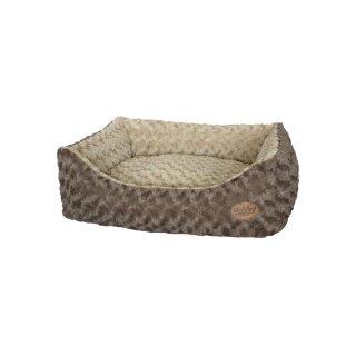 Komfort-Bett Lican Beige/Braun