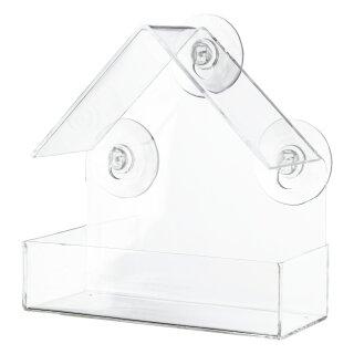 Futterhaus für Fensterscheibe 225 ml/15 × 15 × 6 cm