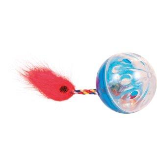 Trixie Rasselbälle Set mit Spielschwanz ø 4 cm