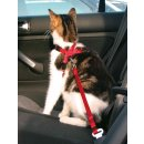 Auto-Sicherheitsgeschirr für Katzen rot 20-50 cm/15 mm