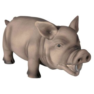 Schwein Original-Tierstimme Latex 23 cm