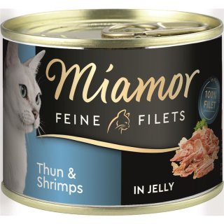 Miamor Feine Filets Thunfisch & Shrimps 185g Dose