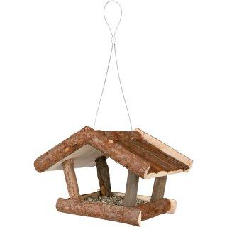 Futterhaus aus Rindenholz 32×23×20cm
