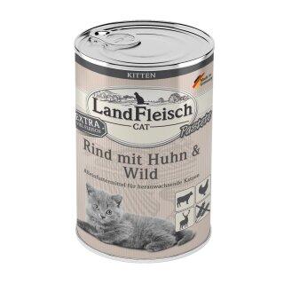 LandFleisch Cat Kitten Pastete Rind & Huhn & Wild