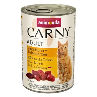 Animonda Carny Adult Rind & Huhn & Entenherzen