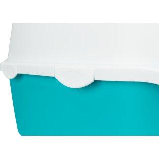 Trixie Katzentoilette Vico aquamarin/weiß 40 × 40 × 56 cm