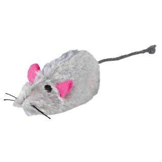 Catnip Plüschmaus mit Squaker Langhaar 9 cm