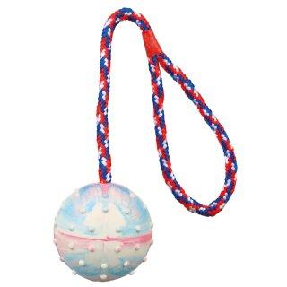 Naturgummi-Ball am Seil