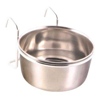 Edelstahlnapf mit Halter 300 ml / ø 9 cm
