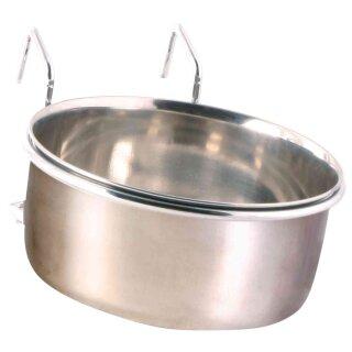 Edelstahlnapf mit Halter 600 ml / ø 12 cm