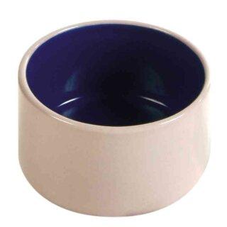 Keramiknapf für Kleinnager creme / blau