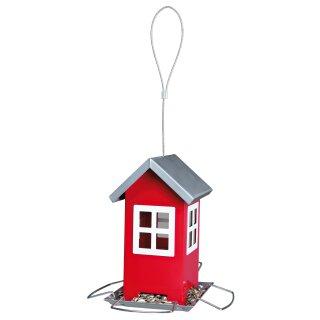 Trixie Futterhaus rot/silber 19 x20 x 19 cm