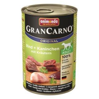 Animonda GranCarno Adult Rind, Kaninchen & Kräuter 400g