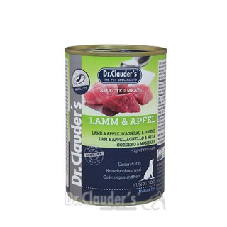 Dr. Clauder's Hunde Nassfutter Dose Selected Meat Prebiotics Lamm & Apfel 400 g AUSLAUF