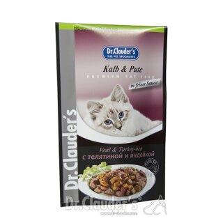 Dr. Clauder's Katzen Portionsbeutel Kalb & Pute 100 g