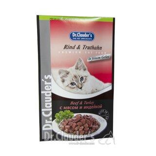 Dr. Clauders Katzen Portionsbeutel Rind & Truthahn 100 g
