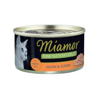Miamor Feine Filets Naturelle Huhn & Kürbis 80g