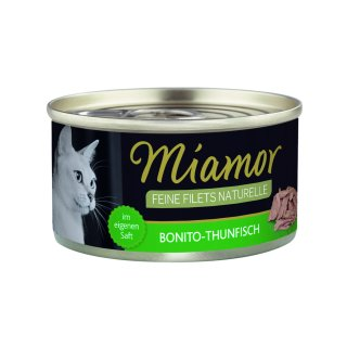 Miamor Feine Filets Naturelle Bonito-Thunfisch 80g
