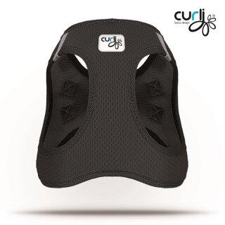Curli Vest Geschirr Air-Mesh Schwarz XL