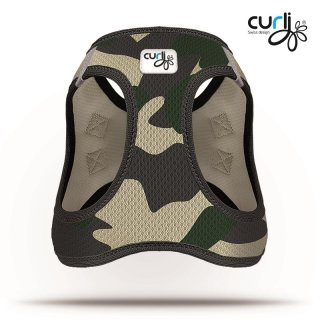 Curli Vest Geschirr Air-Mesh Camo XXXS