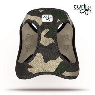 Curli Vest Geschirr Air-Mesh Camo XS