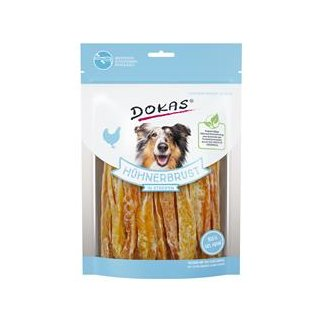 Dokas Dog Snack Hühnerbust in Streifen